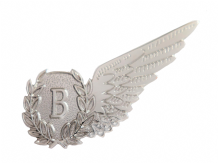 Bomb Aimer Royal Air Force RAF MOD Single Wing Nickel Pin Badge / Brevet